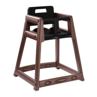 Koala Kare KB850-09-KD Brown Ready to Assemble Stackable Plastic High Chair