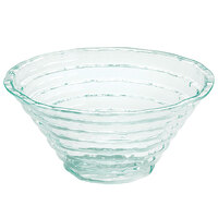 Cal-Mil GL1307-43 13 3/4 inch Clear Faux-Glass Glacier Bowl with Ridges