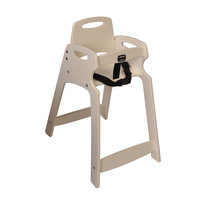 Koala Kare KB833-14-KD Sand Ready to Assemble Recycled Plastic High Chair