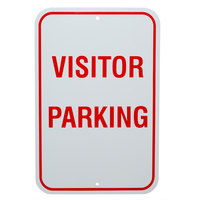 Visitor Parking Aluminum Composite Sign - 12 inch x 18 inch