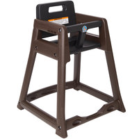 Koala Kare KB950-09 Brown Assembled Stackable Plastic High Chair
