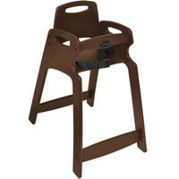 Koala Kare KB833-09-KD Dark Brown Unassembled Recycled Plastic High Chair
