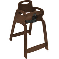 Koala Kare KB833-09-KD Dark Brown Ready to Assemble Recycled Plastic High Chair