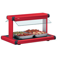 Hatco GR2BW-54 54 inch Glo-Ray Warm Red Designer Buffet Warmer with Warm Red Insets and Infinite Controls - 120V, 2290W