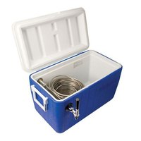 Micro Matic CB481B Blue 1 Faucet 48 Qt. Insulated Jockey Box with 100 ft. Coil