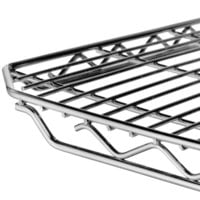 Metro 2436QC qwikSLOT Chrome Wire Shelf - 24 inch x 36 inch