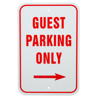 Guest Parking Only Aluminum Composite Sign - 12 inch x 18 inch