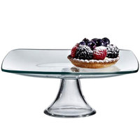 The Jay Companies 8 inch Square Glass Cake Stand Pedestal
