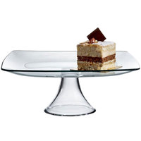 The Jay Companies 12 inch Square Glass Cake Stand Pedestal