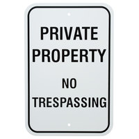 Black Private Property / No Trespassing Aluminum Composite Sign - 12 inch x 18 inch P-61