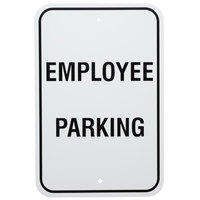 Employee Parking Aluminum Composite Sign - 12 inch x 18 inch P-88