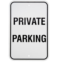 Private Parking Aluminum Composite Sign - 12 inch x 18 inch P-84