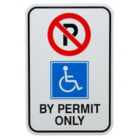 Handicapped Parking By Permit Only Aluminum Composite Sign - 12 inch x 18 inch