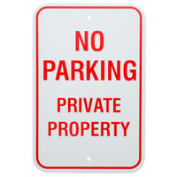 No Parking / Private Property Aluminum Composite Sign - 12 inch x 18 inchP-80