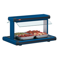 Hatco GR2BW-54 54 inch Glo-Ray Navy Blue Designer Buffet Warmer with Black Insets and Infinite Controls - 120V, 2290W