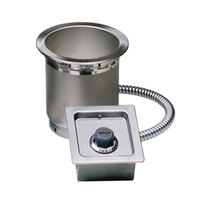 Wells SS4TDUCI 4 qt. Round Insulated Drop In Soup Well with Drain and Cord - Top Mount, Thermostatic Control