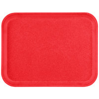 Carlisle 1410FG017 Customizable10 inch x 14 inch Glasteel Red Fiberglass Tray - 12/Case