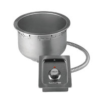 Wells SS8TDU 7 Qt. Round Drop-In Soup Well with Drain - Top Mount, Thermostatic Control, 230V