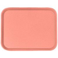 Cambro 1418FF409 14 inch x 18 inch Blush Fast Food Tray - 12/Case
