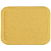 "Carlisle 1410FG023 Customizable10"" x 14"" Glasteel Gold Fiberglass Tray - 12/Case"