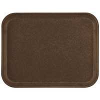 Carlisle 1410FG127 Customizable10 inch x 14 inch Glasteel Chocolate Fiberglass Tray - 12/Case