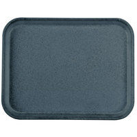 Carlisle 1410FG067 Customizable10 inch x 14 inch Glasteel Slate Blue Fiberglass Tray - 12 / Case