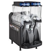 Bunn 34000.0080 Ultra-2 HP High Performance Black Double 3 Gallon Pourover Slushy / Granita Frozen Drink Machine - 120V