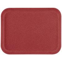 Carlisle 1410FG97030 Customizable10 inch x 14 inch Glasteel Cherry Red Fiberglass Tray - 12/Case