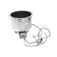 Wells SS8TUCI 7 Qt. Round Insulated Drop In Soup Well with Cord - Top Mount, Thermostatic Control, 208/240V