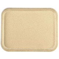 Carlisle 1410FG025 Customizable10 inch x 14 inch Glasteel Beige Fiberglass Tray - 12 / Case