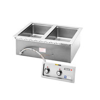 Wells MOD200TDAF Two Pan Drop in Hot Food Well with Drain and Autofill - Thermostatic Controls