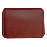 Carlisle 2216FGQ97030 Customizable 16 inch x 22 inch Glasteel Cherry Red Fiberglass Tray - 6/Case