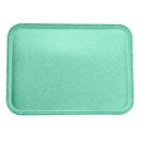Carlisle 2216FGQ007 Customizable 16 inch x 22 inch Glasteel Tropical Green Fiberglass Tray - 6/Case