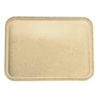 Carlisle 2216FGQ025 Customizable 16 inch x 22 inch Glasteel Beige Fiberglass Tray - 6/Case