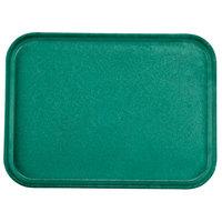 Carlisle 1612FG010 Customizable 12 inch x 16 inch Glasteel Forest Green Fiberglass Tray - 12/Case