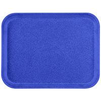 "Carlisle 1612FG014 Customizable 12"" x 16"" Glasteel Cobalt Blue Fiberglass Tray - 12/Case"
