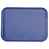 Carlisle 1612FG014 Customizable 12 inch x 16 inch Glasteel Cobalt Blue Fiberglass Tray - 12/Case