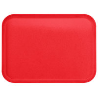 Carlisle 1814FG017 Customizable 14 inch x 18 inch Glasteel Red Fiberglass Tray - 12/Case