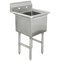 Advance Tabco FC-1-1824 One Compartment Stainless Steel Commercial Sink - 23 inch