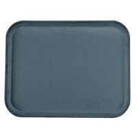 Carlisle 1814FG067 Customizable 14 inch x 18 inch Glasteel Slate Blue Fiberglass Tray - 12/Case