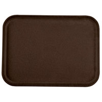 Carlisle 1612FG127 Customizable 12 inch x 16 inch Glasteel Chocolate Fiberglass Tray - 12 / Case