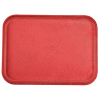 Carlisle 1612FG020 Customizable 12 inch x 16 inch Glasteel Coral Fiberglass Tray - 12 / Case