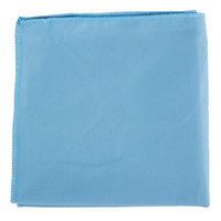 15 inch x 15 inch Blue Microfiber Glass / Fine Polishing Cloth - 12/Pack