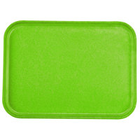 Carlisle 1612FG009 Customizable 12 inch x 16 inch Glasteel Lime Fiberglass Tray - 12 / Case