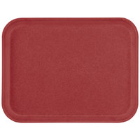 Carlisle 1612FG97030 Customizable 12 inch x 16 inch Glasteel Cherry Red Fiberglass Tray - 12/Case