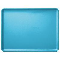 Carlisle 1216LFG011 Customizable 12 inch x 16 inch Glasteel Turquoise Dietary Fiberglass Tray - 12/Case
