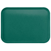 Carlisle 1814FG010 Customizable14 inch x 18 inch Glasteel Forest Green Fiberglass Tray - 12/Case