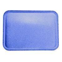 Carlisle 2216FGQ014 Customizable 16 inch x 22 inch Glasteel Cobalt Blue Fiberglass Tray - 6/Case