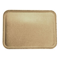 Carlisle 2216FGQ095 Customizable 16 inch x 22 inch Glasteel Almond Fiberglass Tray - 6/Case