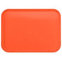 Carlisle 1814FG018 Customizable14 inch x 18 inch Glasteel Orange Fiberglass Tray - 12/Case
